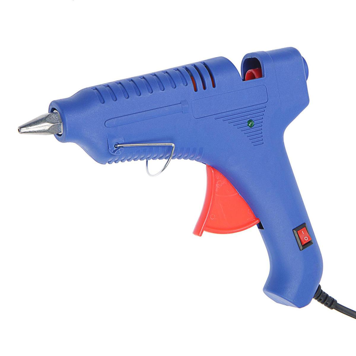 4365665 Клеевой пистолет TUNDRA, 80 Вт, 220 В, выключатель, индикатор, антикапля, шнур 1.2 м, 11 мм