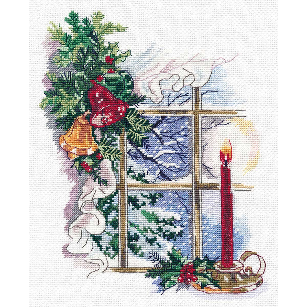 1358 Набор для вышивания ОВЕН 'Свет Рождества'16*22см