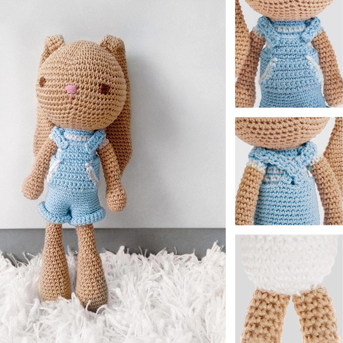 1657303 Мягкая игрушка 'Зайка Франк', набор для вязания, 12*10*4 см