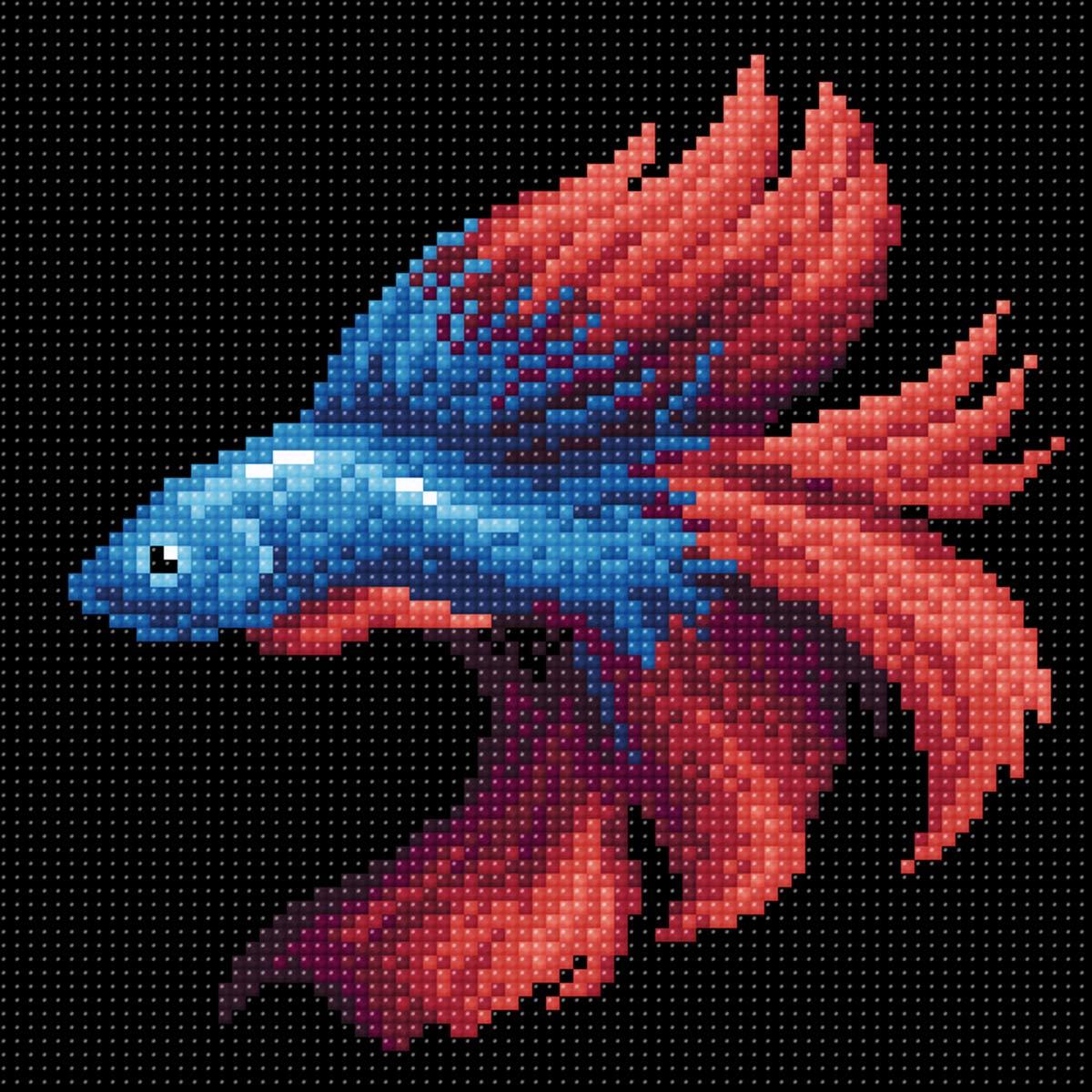 МС 057 Алмазная мозаика 'Рыбка красная'20*20см Brilliart