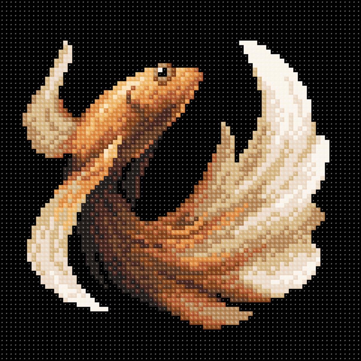 МС 058 Алмазная мозаика 'Рыбка золотая'20*20см Brilliart