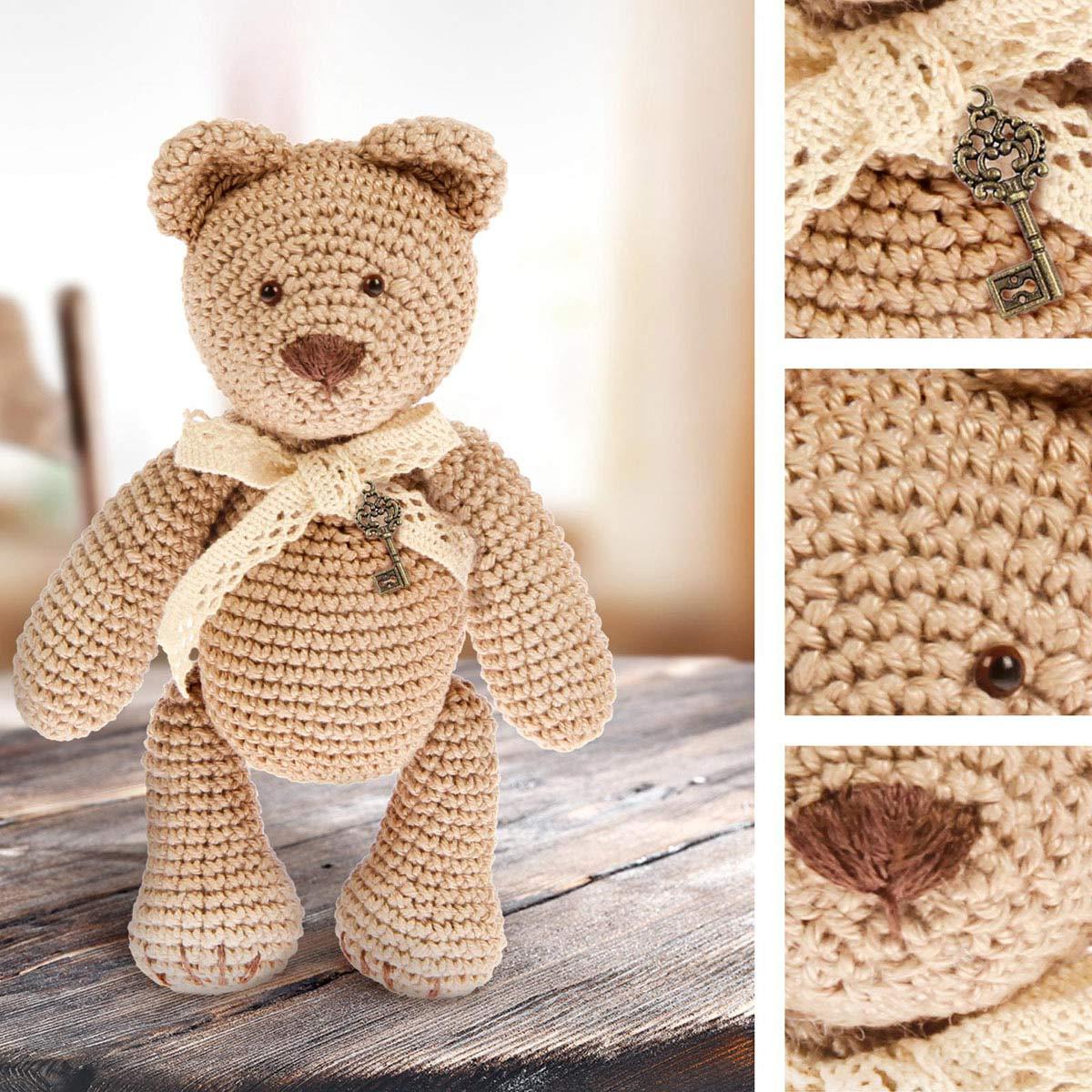 1657295 Мягкая игрушка 'Мишка Тоффи', набор для вязания, 12 см* 4 см*12,5 см