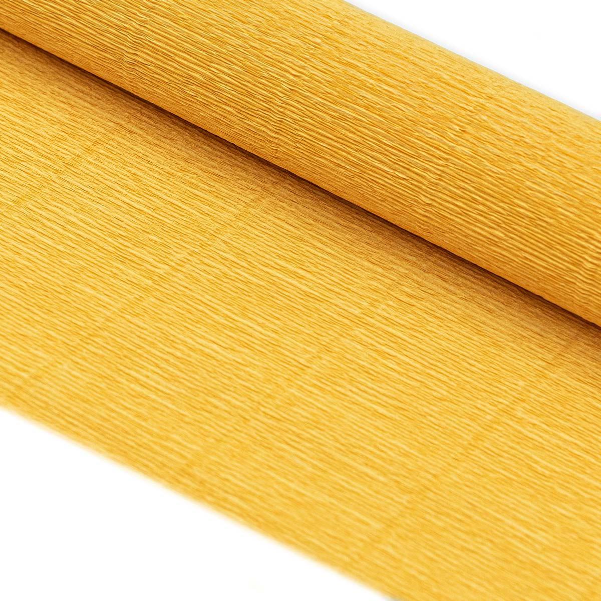 58899 Бумага гофрированная простая, 180гр 17Е/5 солнечно-желтая