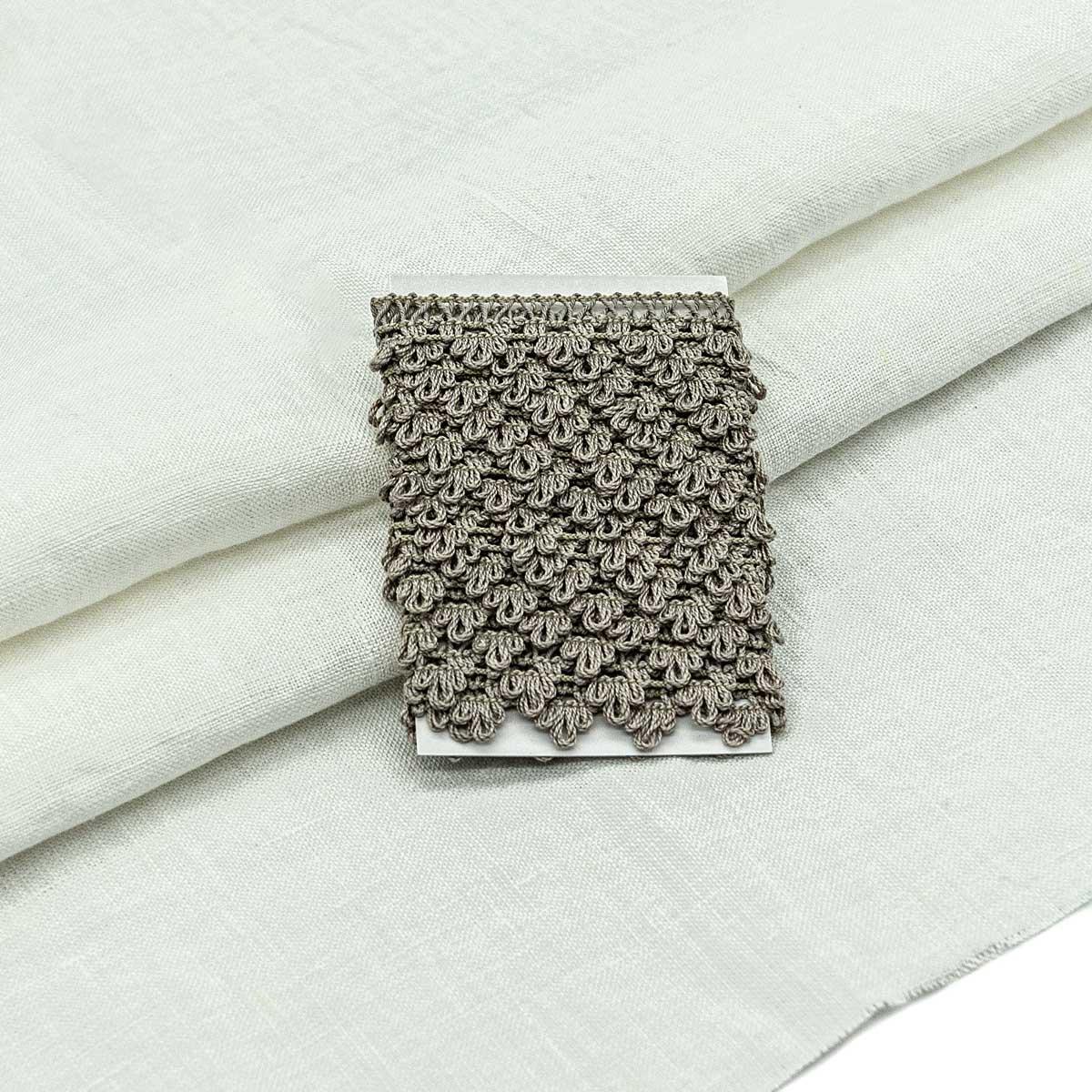 28956 Набор для творчеста 'Ткань лён с тесьмой ' (100% лен / 69%хб+31%пэ. 45*50см/ 2м), цв.белый+льняной