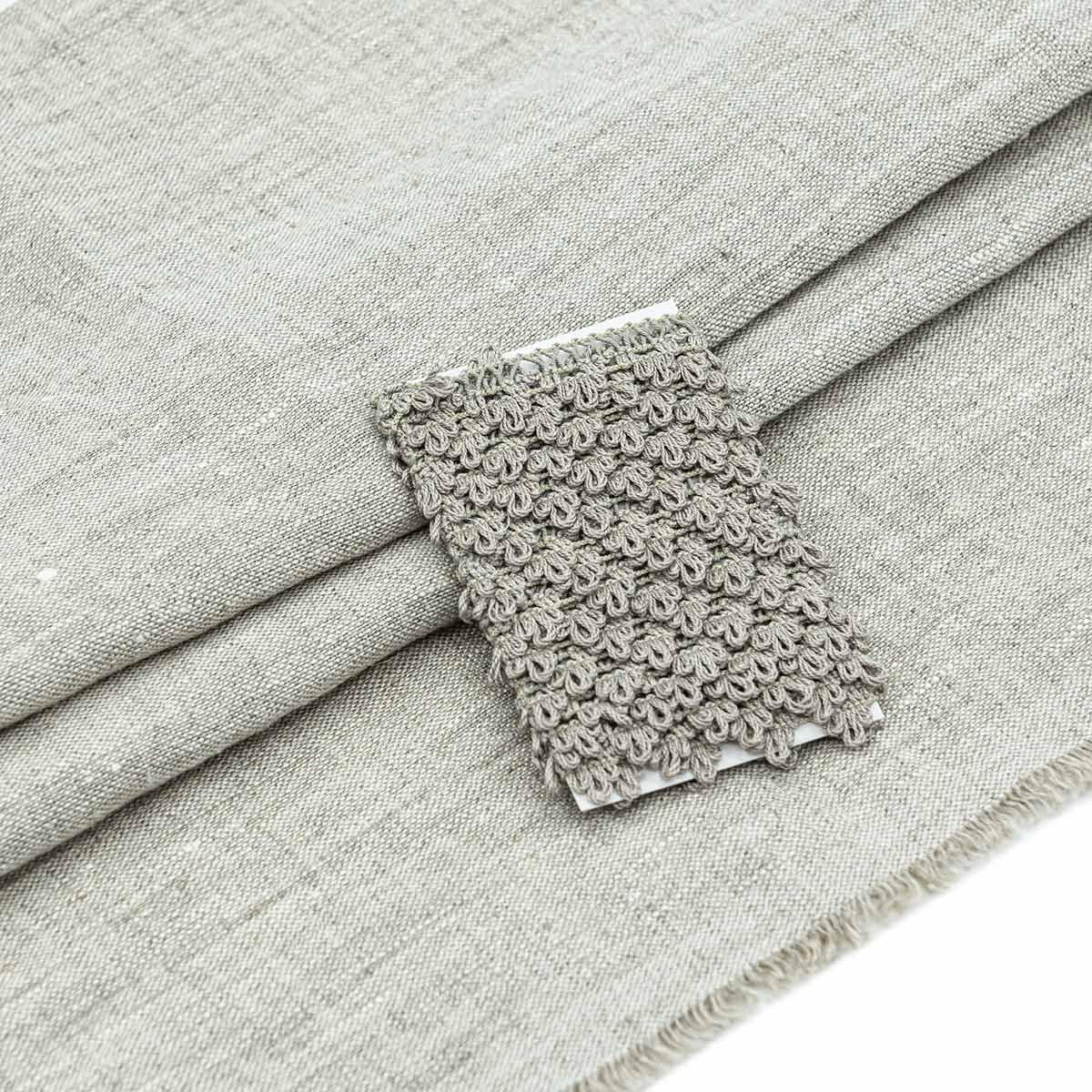 28956 Набор для творчеста 'Ткань лён с тесьмой ' (100% лен / 69%хб+31%пэ. 45*50см/ 2м), цв.н.серый+льняной