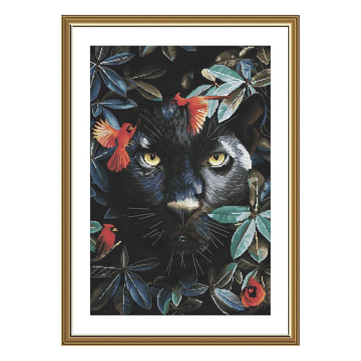 РЕ3518 Набор для вышивания 'Королева диких джунглей'28*42 см
