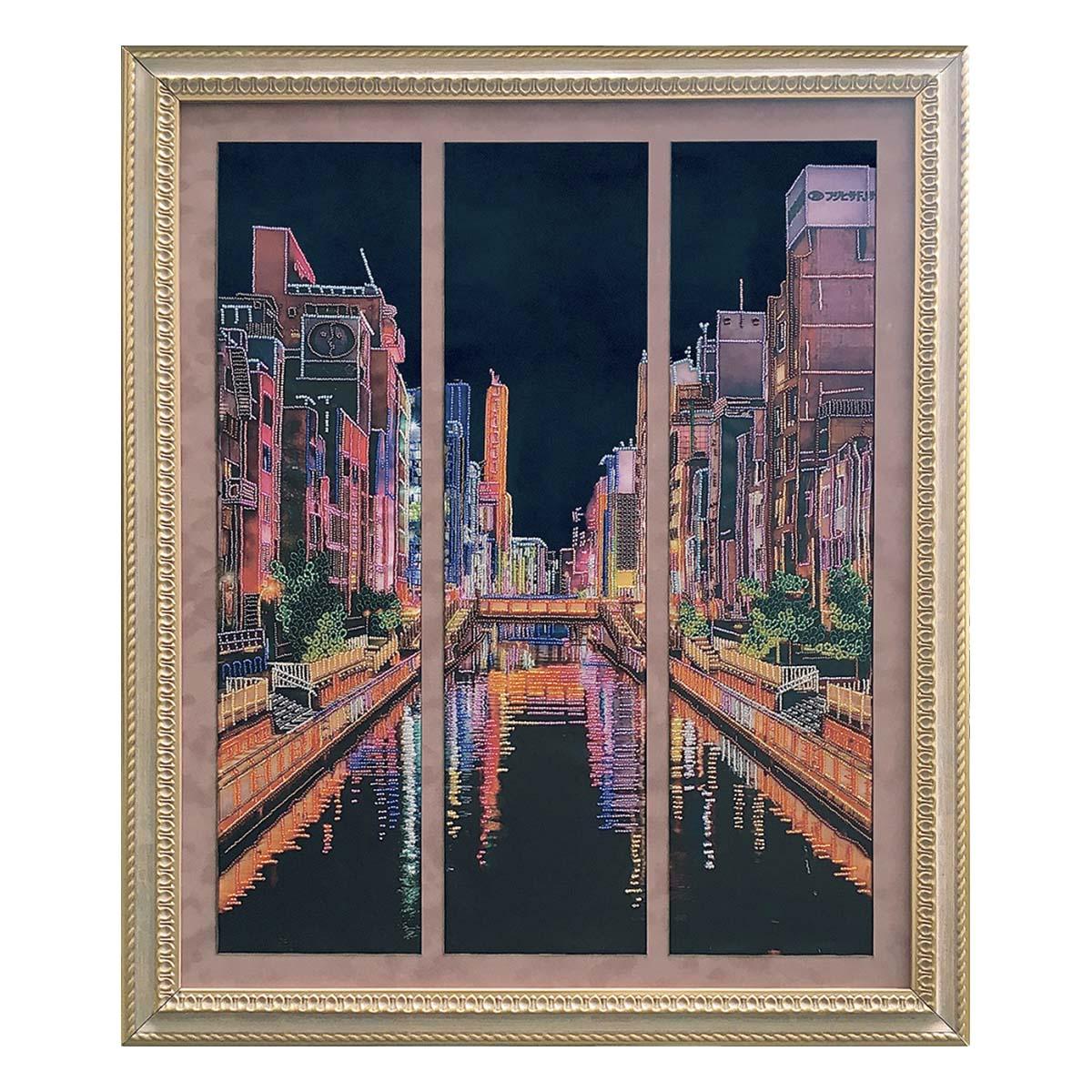 ДК2211 Набор для вышивания бисером Нова Слобода 'Огни большого города'45*68см