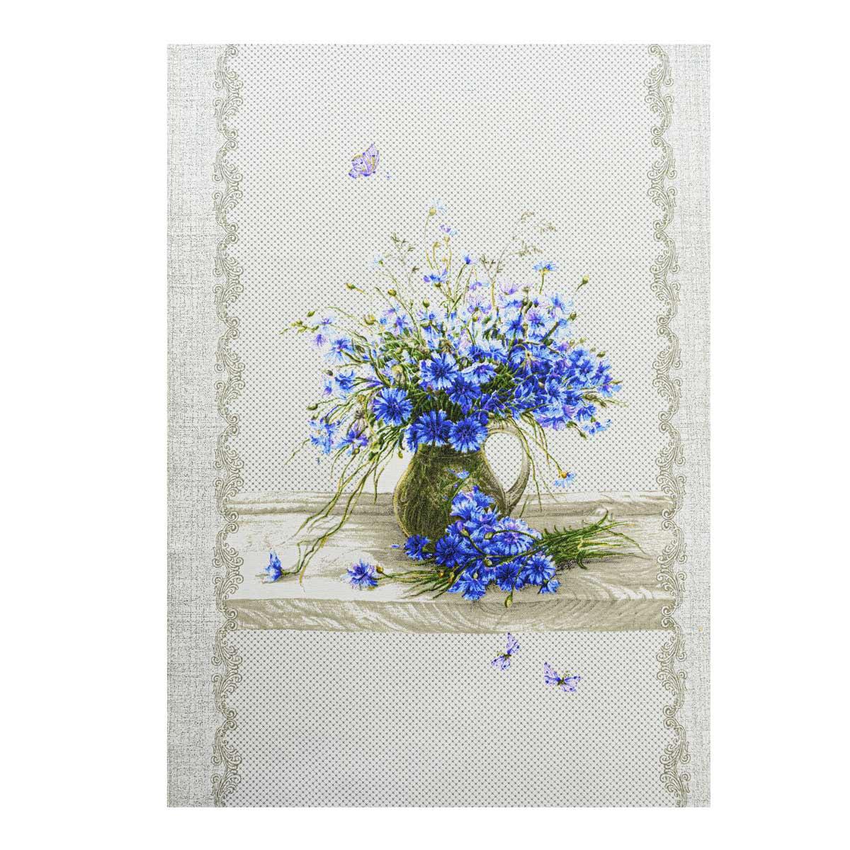 28967 Набор рогожка 'Полевые цветы ' 3 купона *50*60см, 100% хлопок