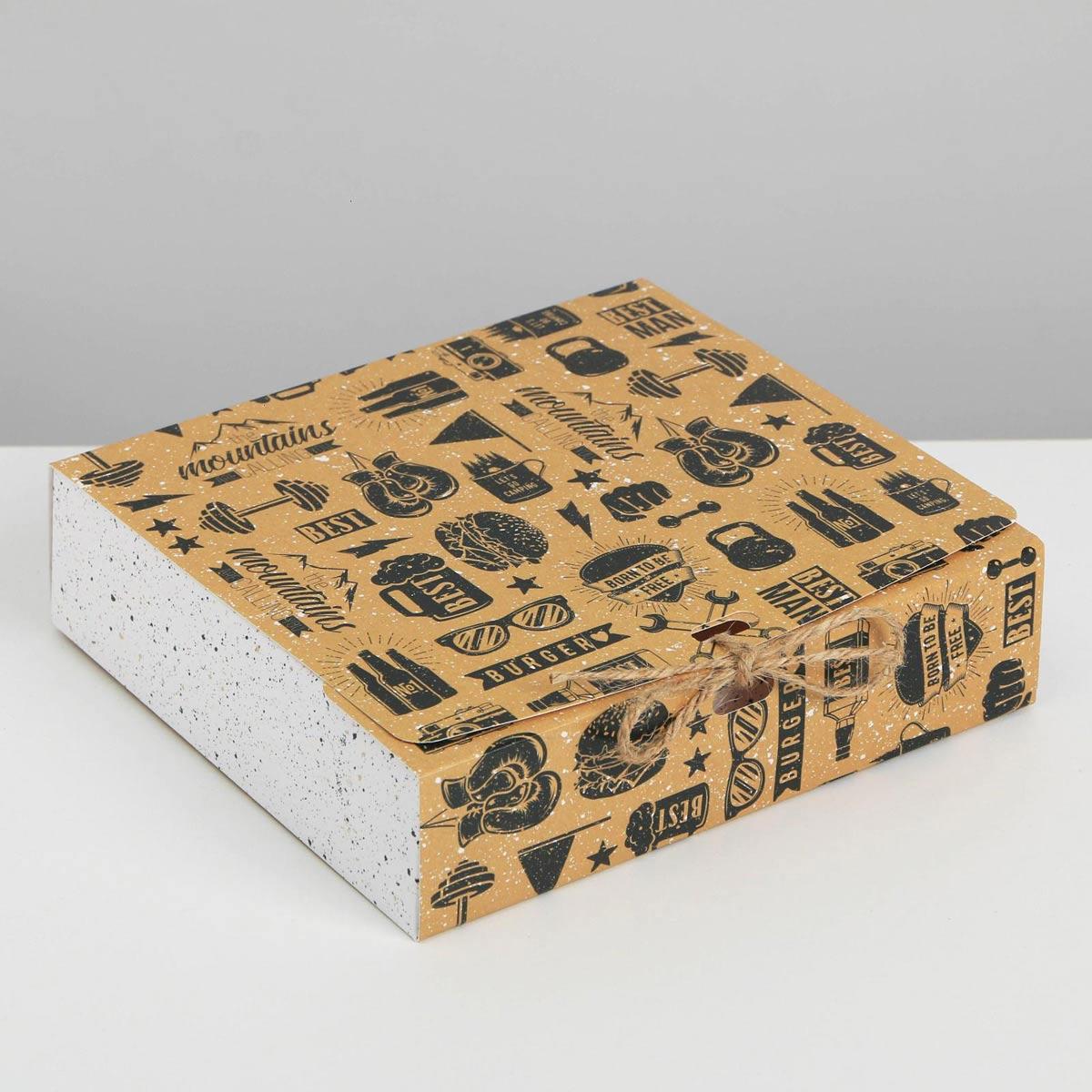 5231303 Коробка складная подарочная 'Мужская', 20*18*5 см