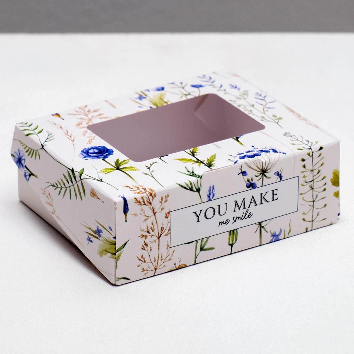 4747415 Коробка складная Flowers, 10*8*3.5 см