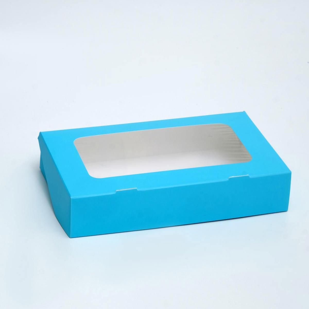 4823071 Контейнер голубой, 20*12*4 см