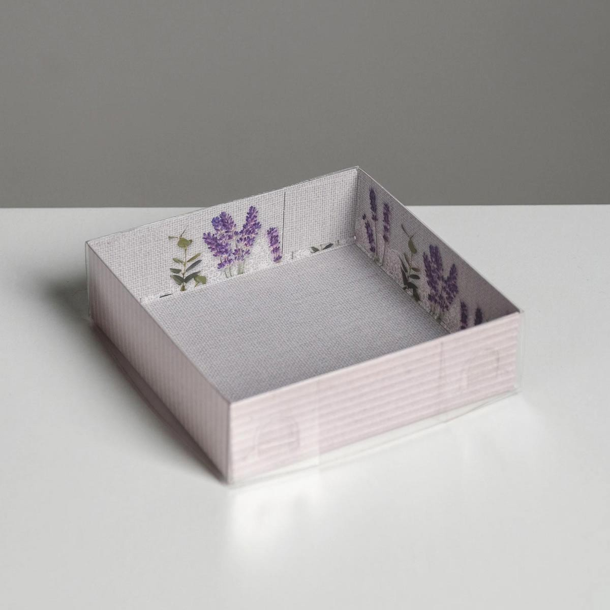 5139769 Коробка крышкой 'Лаванда', 12*12*3 см