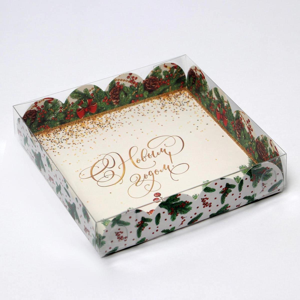 6930820 Коробка крышкой 'Новый год', 13*13*3 см