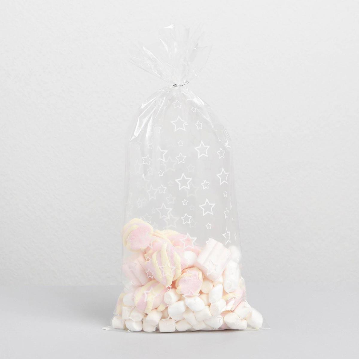 6831696 Пакет подарочный пластиковый 'Звезды', 15*30 см