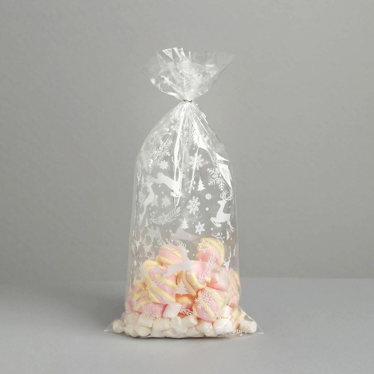 6831703 Пакет подарочный пластиковый 'Олени', 15*30 см
