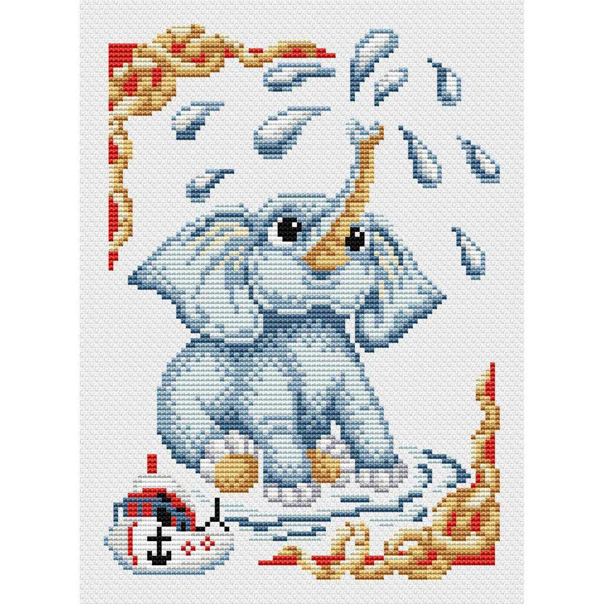 КН-468 Набор для вышивания МП Студия 'Слоненок' 30*21см