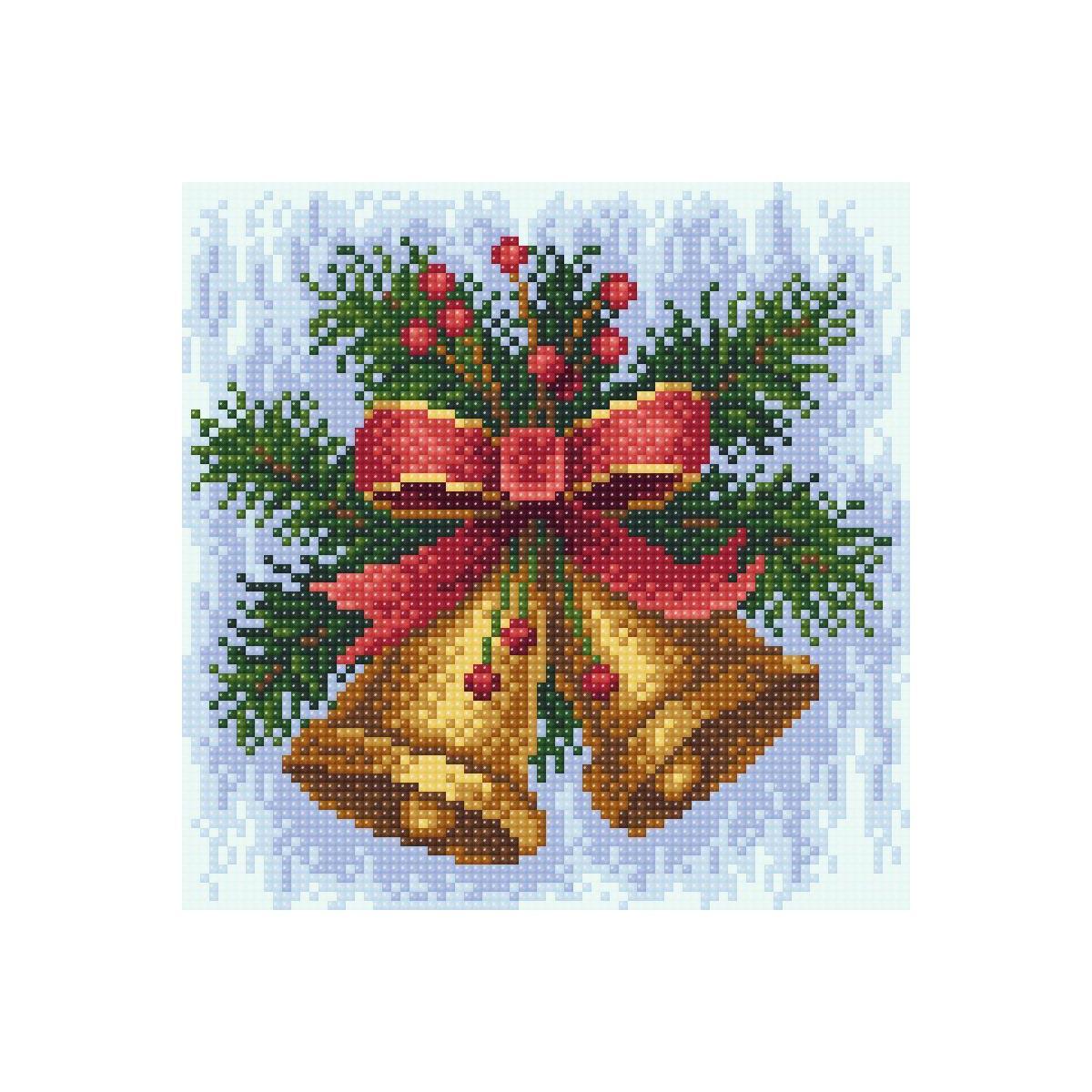 МС-024 Алмазная мозаика 'Новогодняя мелодия' 20*20см Brilliart