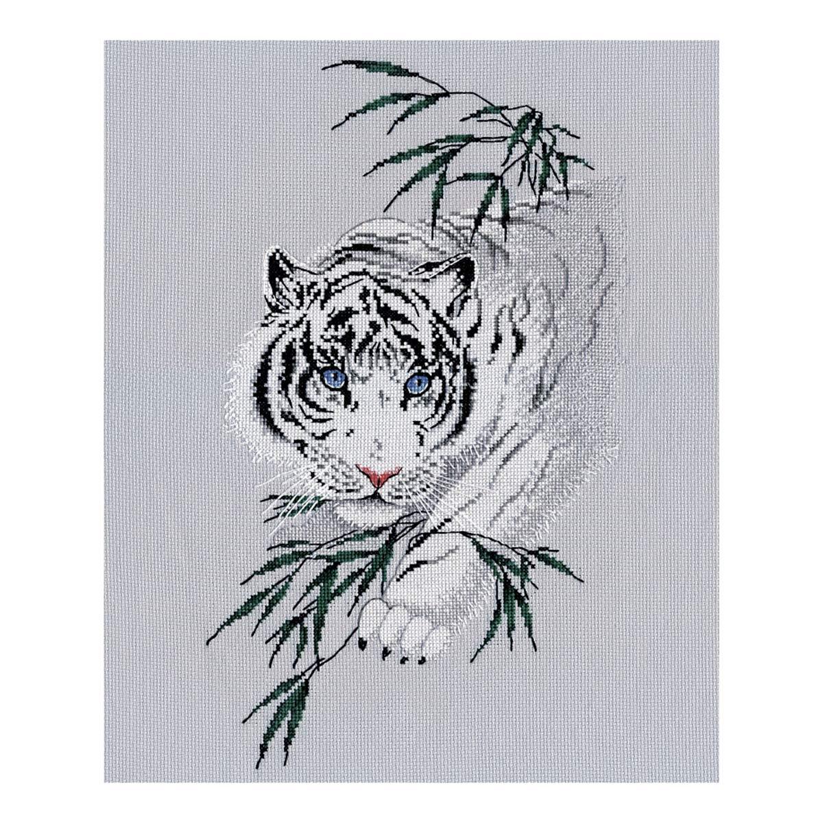 1438 Набор для вышивания ОВЕН 'Белый тигр' 20*33см
