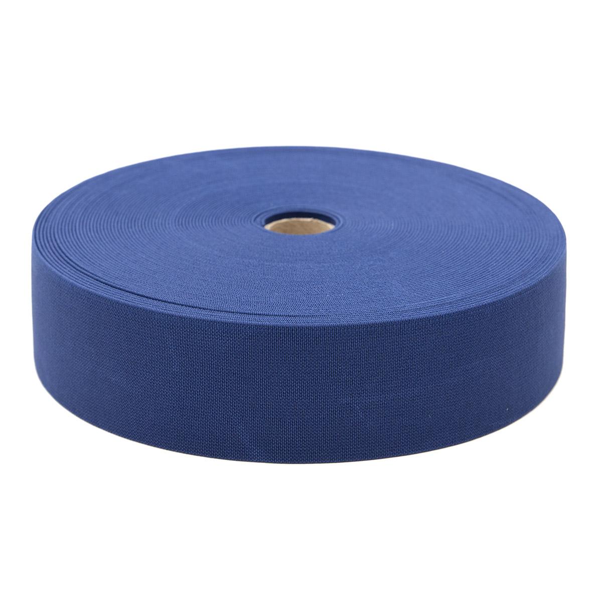 15-3849/9882 Резинка вязаная 50мм*25м т.синий ГР