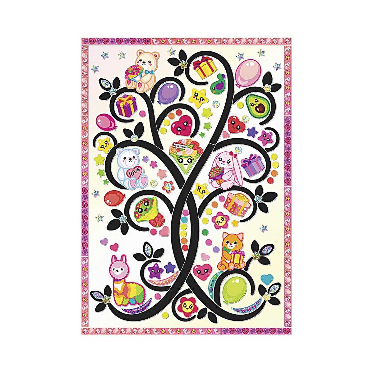 АС 43-324 Набор для изготовления картины 'Плюшевое дерево' (декорирование) 210*297 мм Клевер