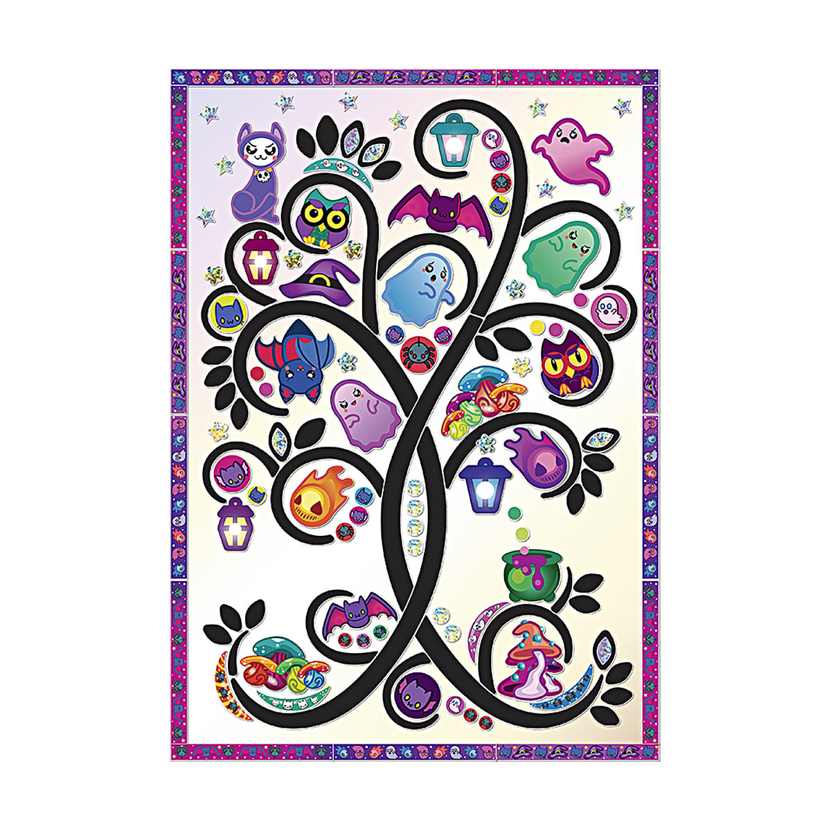 АС 43-326 Набор для изготовления картины 'Мистическое дерево' (декорирование) 210*297 мм Клевер