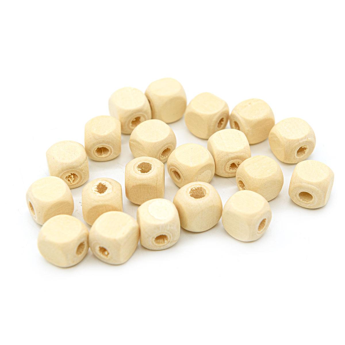 Бусины деревянные неокрашенные кубик 12*12 мм, 20шт