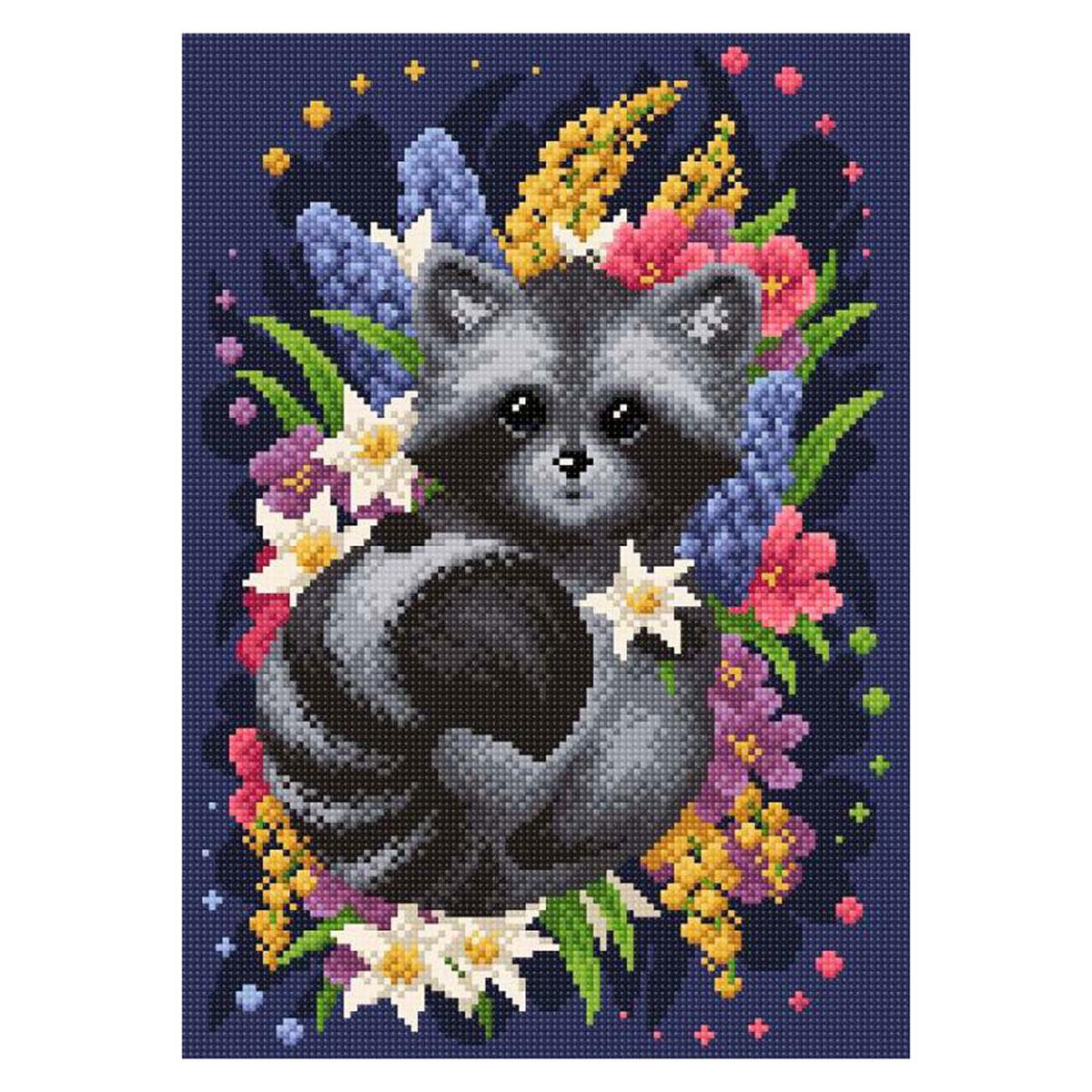 МС-066 Алмазная мозаика ' Весенний енот' 27*38см Brilliart