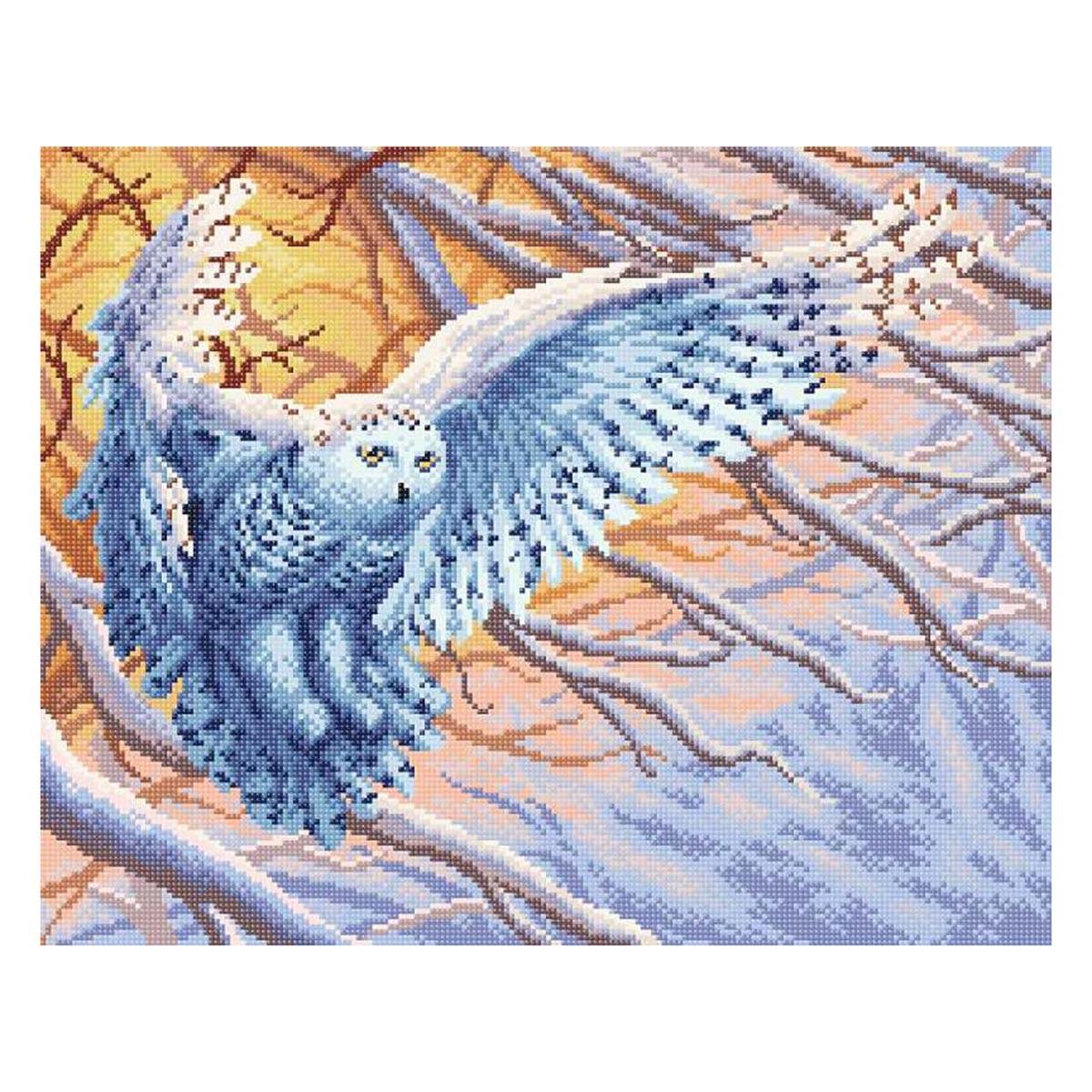 МС-072 Алмазная мозаика 'Полярная сова' 48*38 см Brilliart
