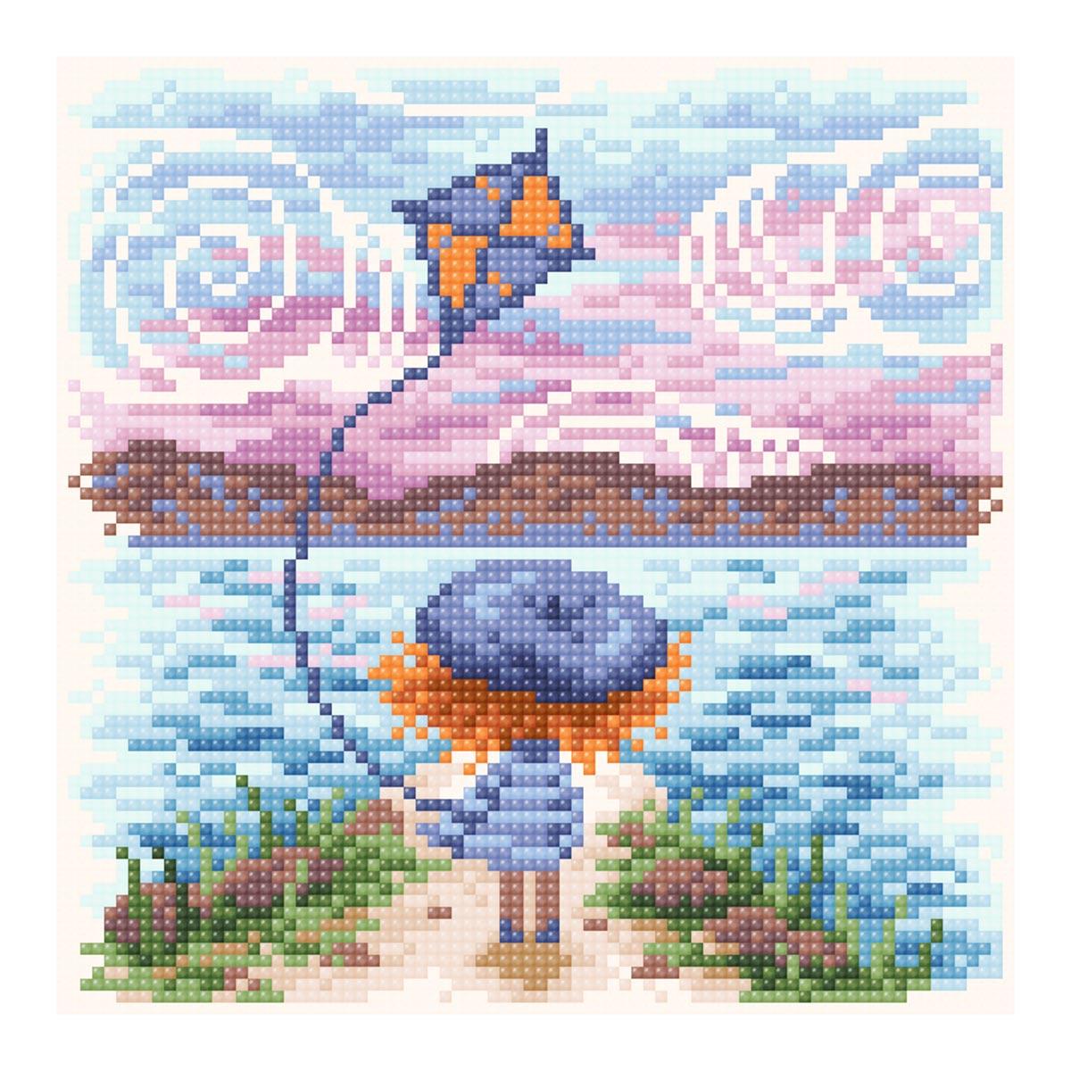 МС-076 Алмазная мозаика 'Мечты о море' 20*20 см Brilliart