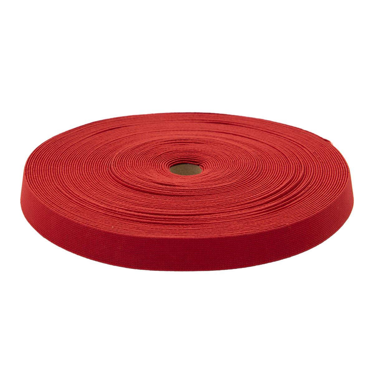 15-3847/9743 Резинка вязаная 20мм*25м красный
