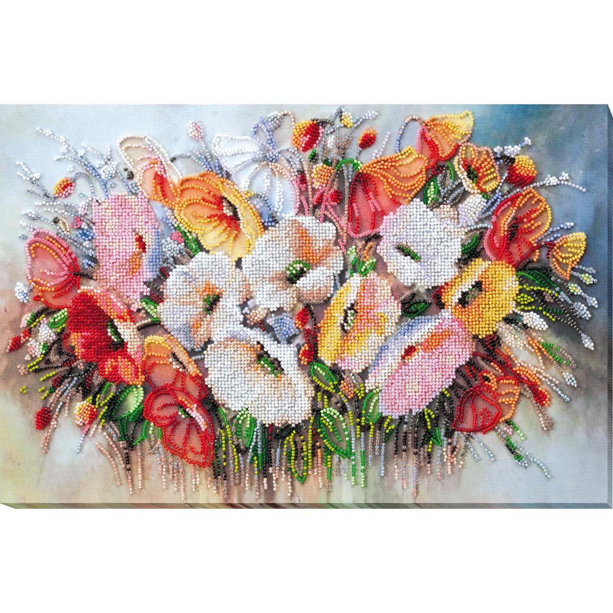 АВ-805 Набор для вышивания бисером 'Нежные цветы' 40*27см