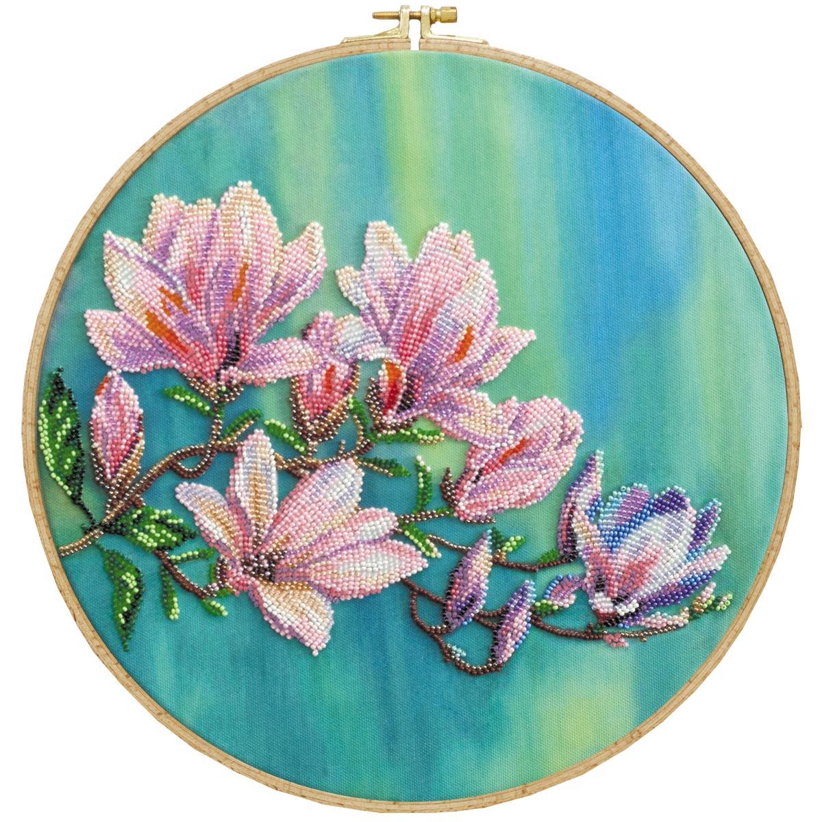 АВ-806 Набор для вышивания бисером 'Магнолии цветут' 33*33см
