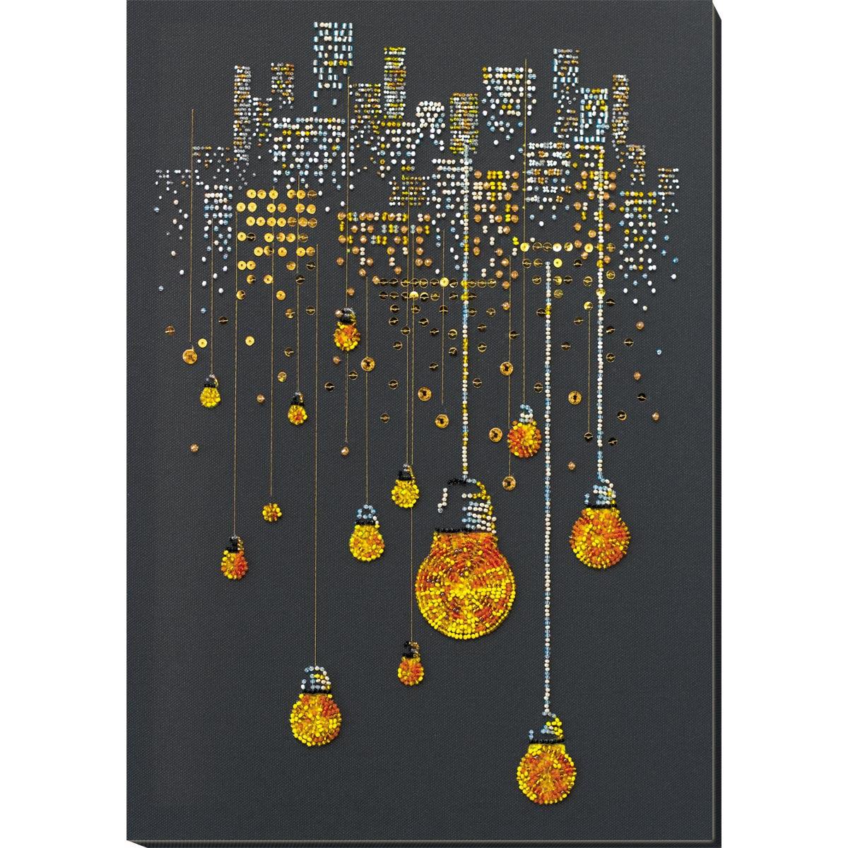 АВ-811 Набор для вышивания бисером 'Ламповый вечер' 29*41см