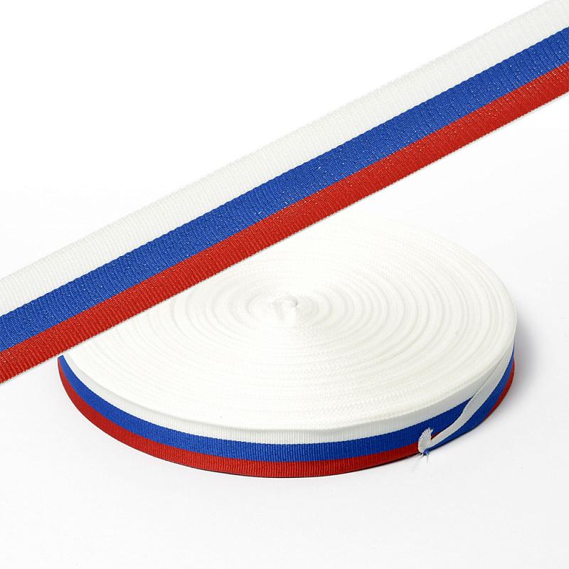 КК024ТР Лента тканая триколор 24мм*100м