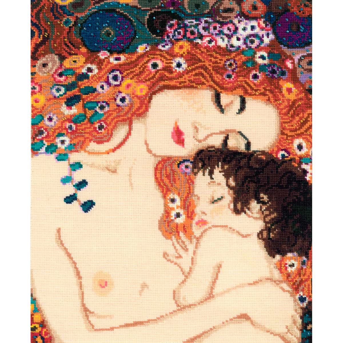 916 Набор для вышивания Riolis по мотивам картины Г. Климта 'Материнская любовь', 30*35 см