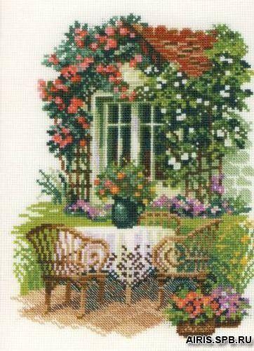 1003 Набор для вышивания Riolis 'Утро на даче', 21*30 см