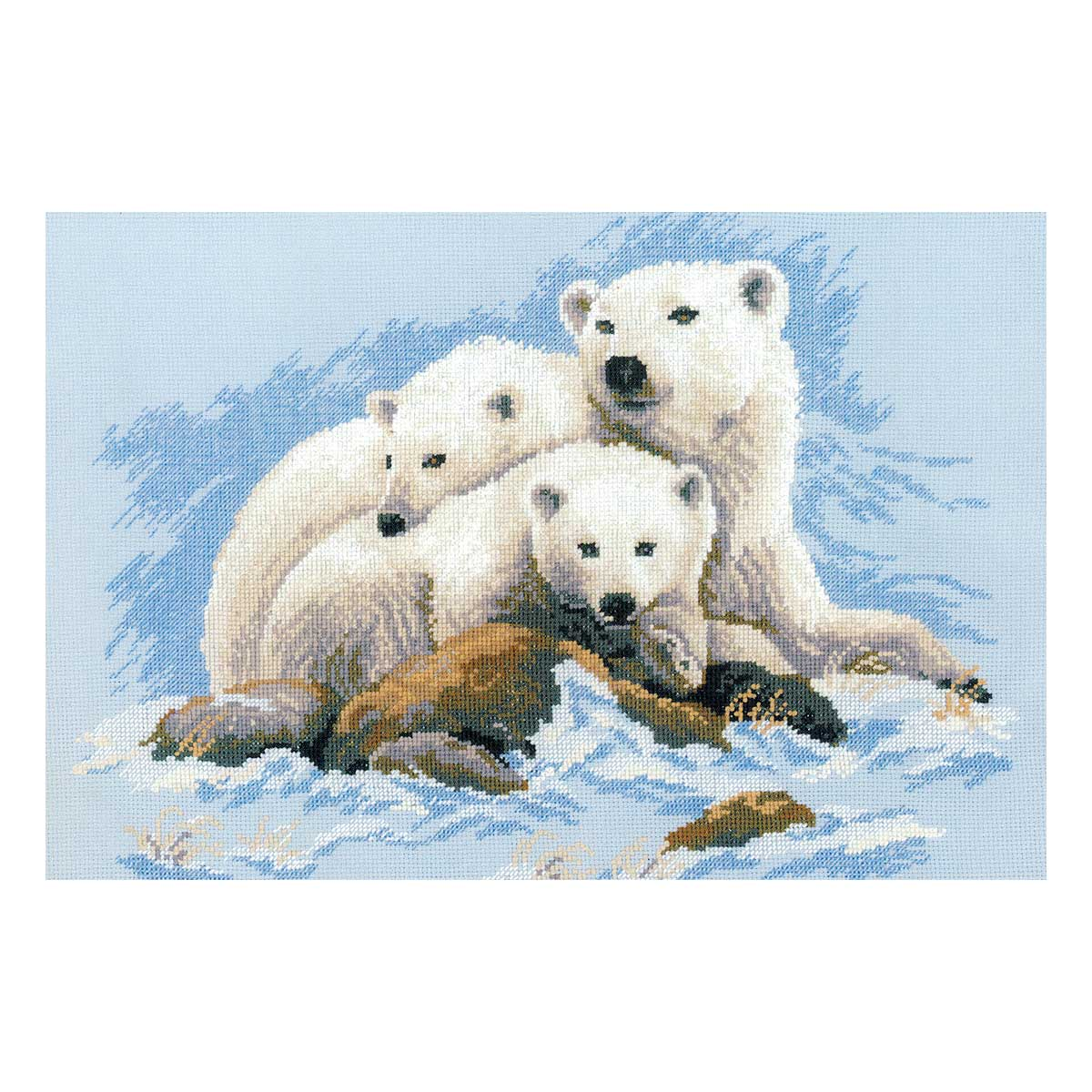 1033 Набор для вышивания Riolis' Белые медведи', 60*40 см