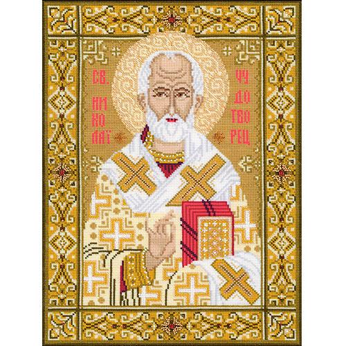 1034 Набор для вышивания Riolis 'Св. Николай Чудотворец', 29*39 см