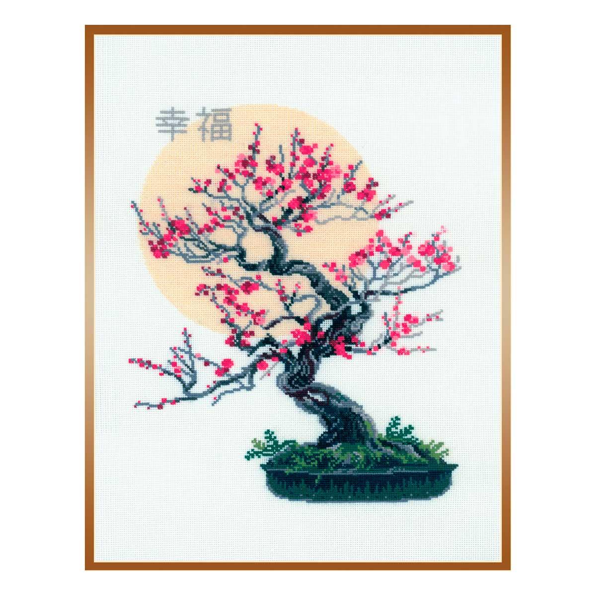 1036 Набор для вышивания Riolis 'Бонсай сакура', 35*45 см