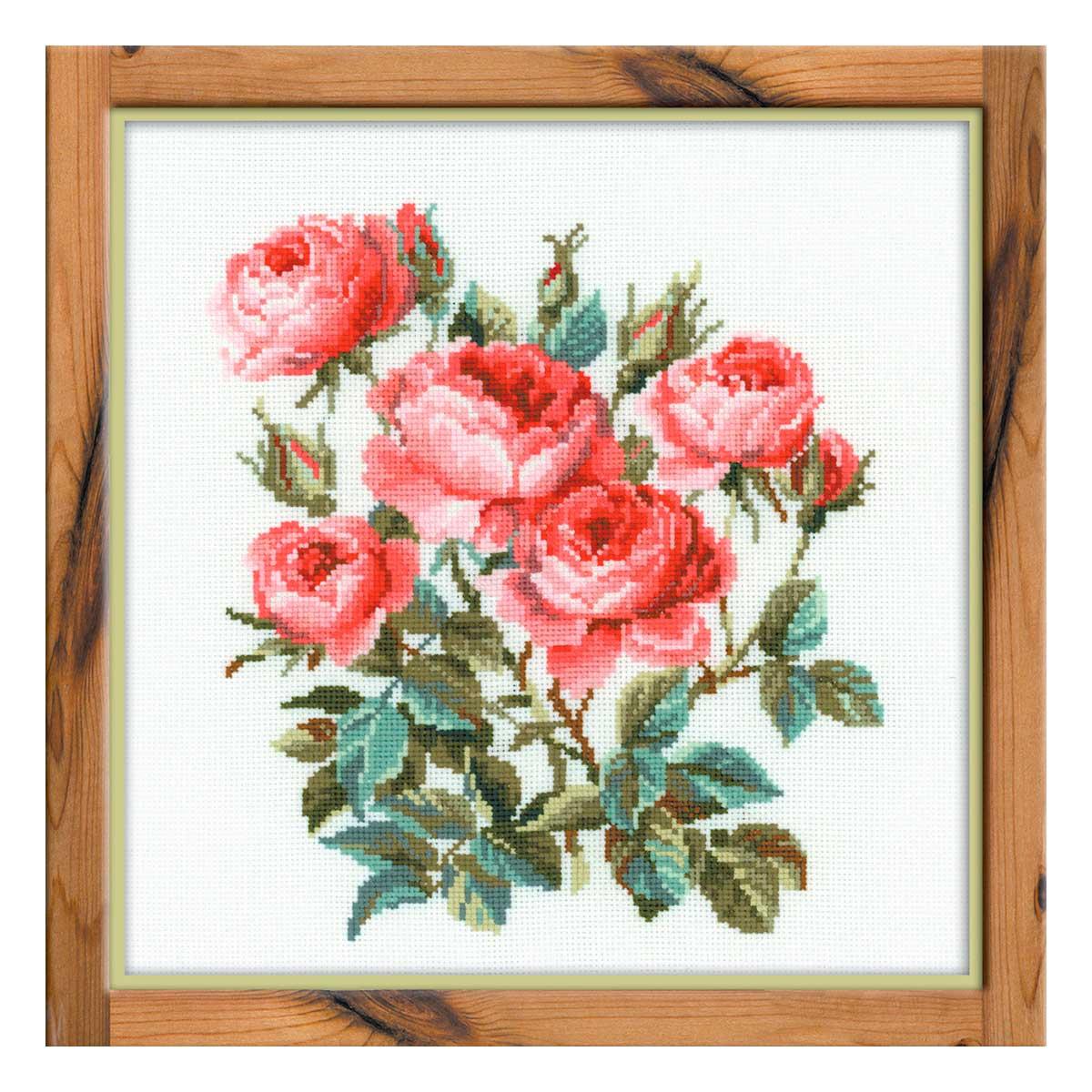 1046 Набор для вышивания Riolis 'Садовые розы', 40*40 см