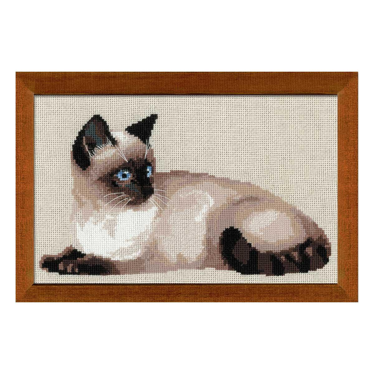 1066 Набор для вышивания Riolis 'Тайская кошка', 38*26 см