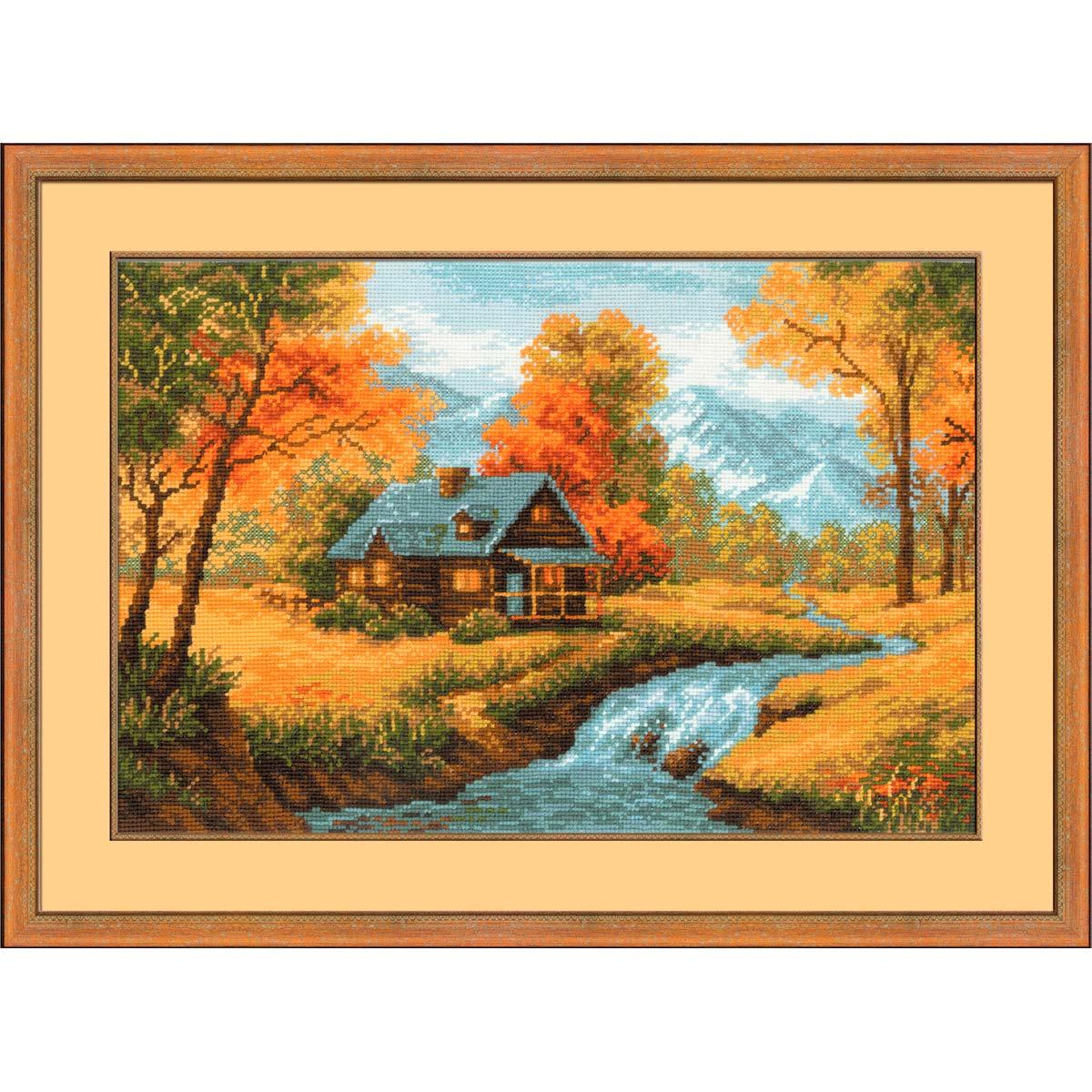 1079 Набор для вышивания Riolis 'Осенний пейзаж', 38*26 см