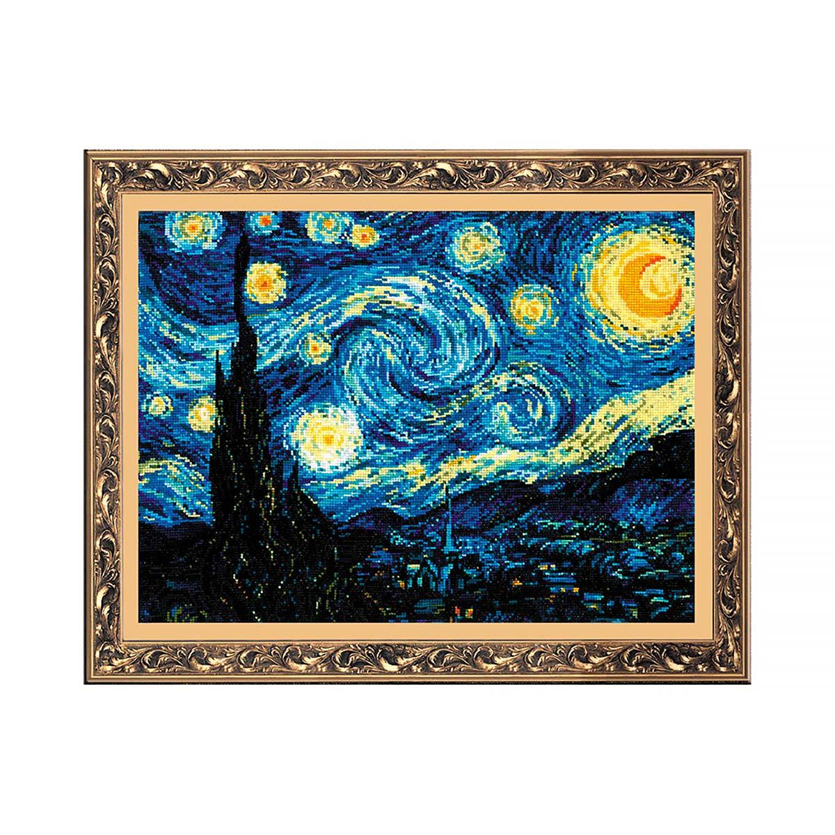 1088 Набор для вышивания Riolis 'Ван Гог 'Звёздная ночь', 40*30 см
