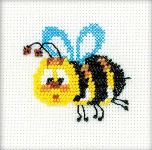 1111 Набор для вышивания бисером Riolis 'Пчёлка', 10*10 см