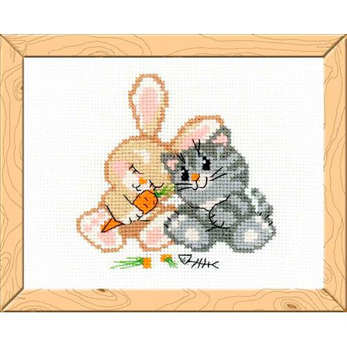 НВ-103 Набор для вышивания Riolis 'Любовь-морковь', 16*13 см