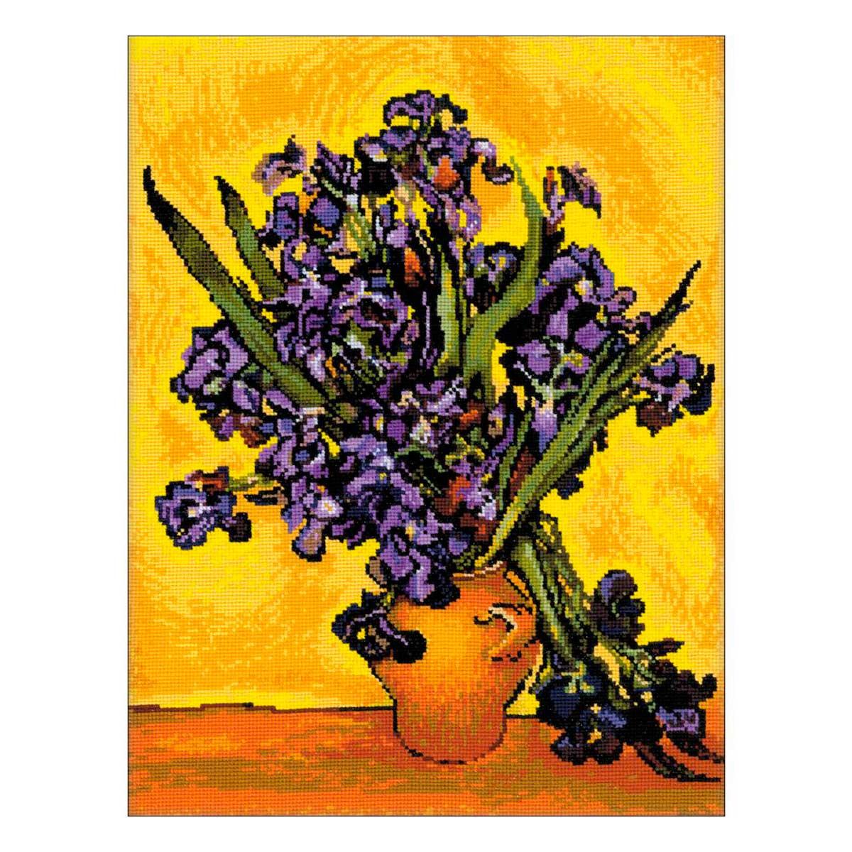 1087 Набор для вышивания Riolis 'Ван Гог 'Ирисы', 30*40 см