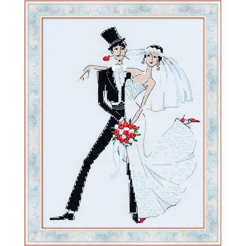 1179 Набор для вышивания Riolis 'Свадебное танго', 20*26 см