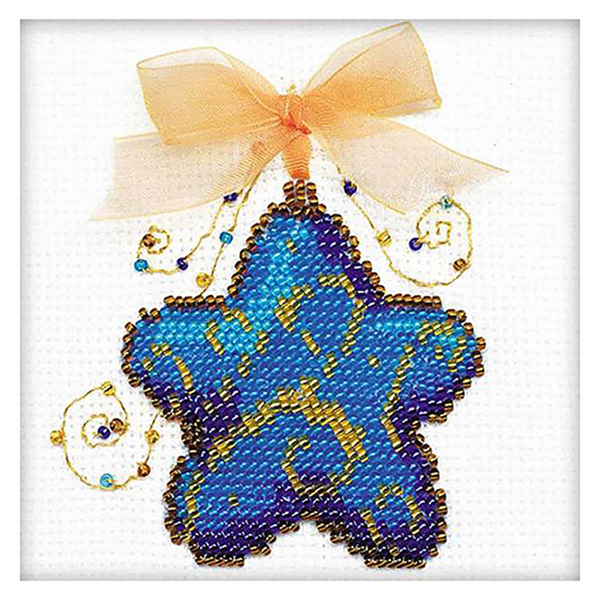 1224 Набор для вышивания бисером Riolis 'Волшебная звездочка', 10*10 см