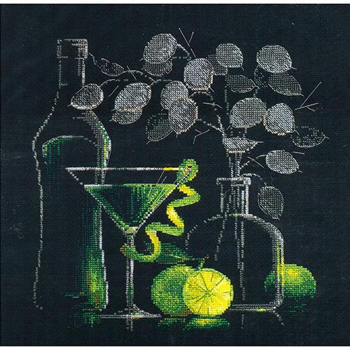 1240 Набор для вышивания Riolis 'Натюрморт с мартини', 30*30 см