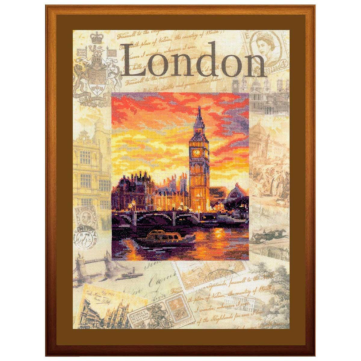 РТ-0019 Набор для вышивания Riolis 'Города мира. Лондон', 30*40 см